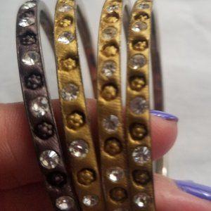 Boho Inspired Bangle Bracelets - Set of 4